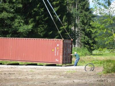 Container wurde geliefert
